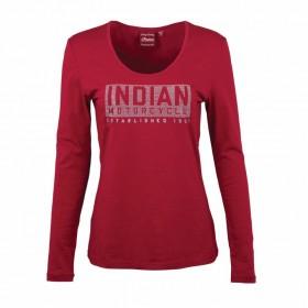 Womens Indian Long Sleeved Logo Stud Tee