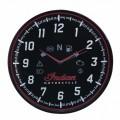Indian Motorcycle Wall Clock Black