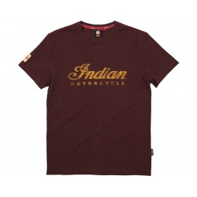 Indian Men's Brown Logo T- Shirt