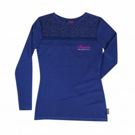 Women's Indian Long Sleeved Lace Panel T-Shirt