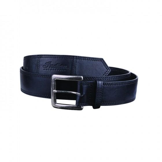Indian Black Leather Belt