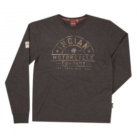 Men's Indian Motorcycle Long Sleeved Charcoal Marl T-Shirt